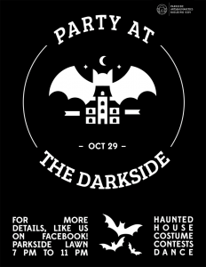 Flier for Party at the Darkside (October 2015)